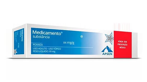 Caixa de Postec na forma de pomada com 2,5 mg/g